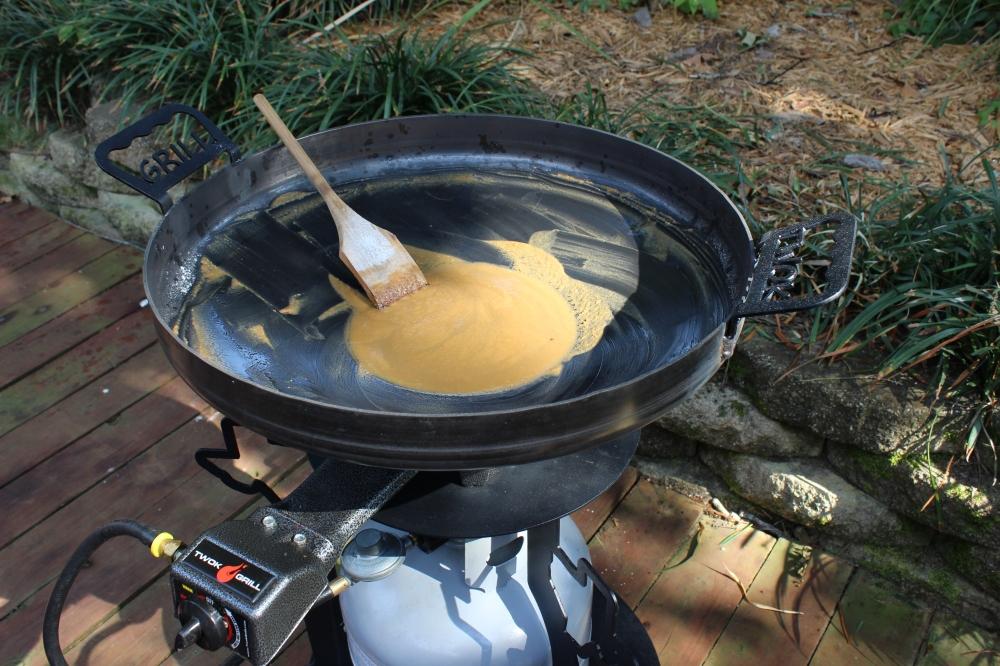 Roux, Catfish,Cajun Cooking,Catfish Court-Bouillon,Cowboy wok,Outdoors,Plow disc cooker ,Spring Recipe,Texas Wok,Twok Deep Dish,Twok Grill