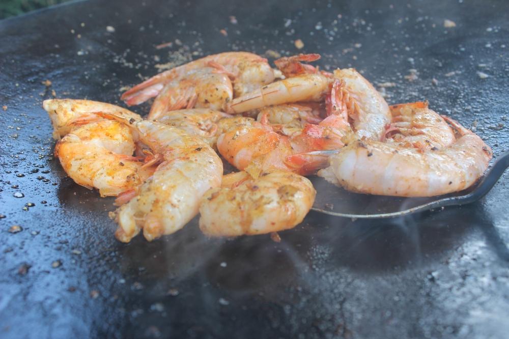 Grilled Gulf Shrimp, Cajun Food, Cajun cooking, Catfish,Cajun Cooking,Catfish Court-Bouillon,Cowboy wok,Outdoors,Plow disc cooker ,Spring Recipe,Texas Wok,Twok Deep Dish,Twok Grill