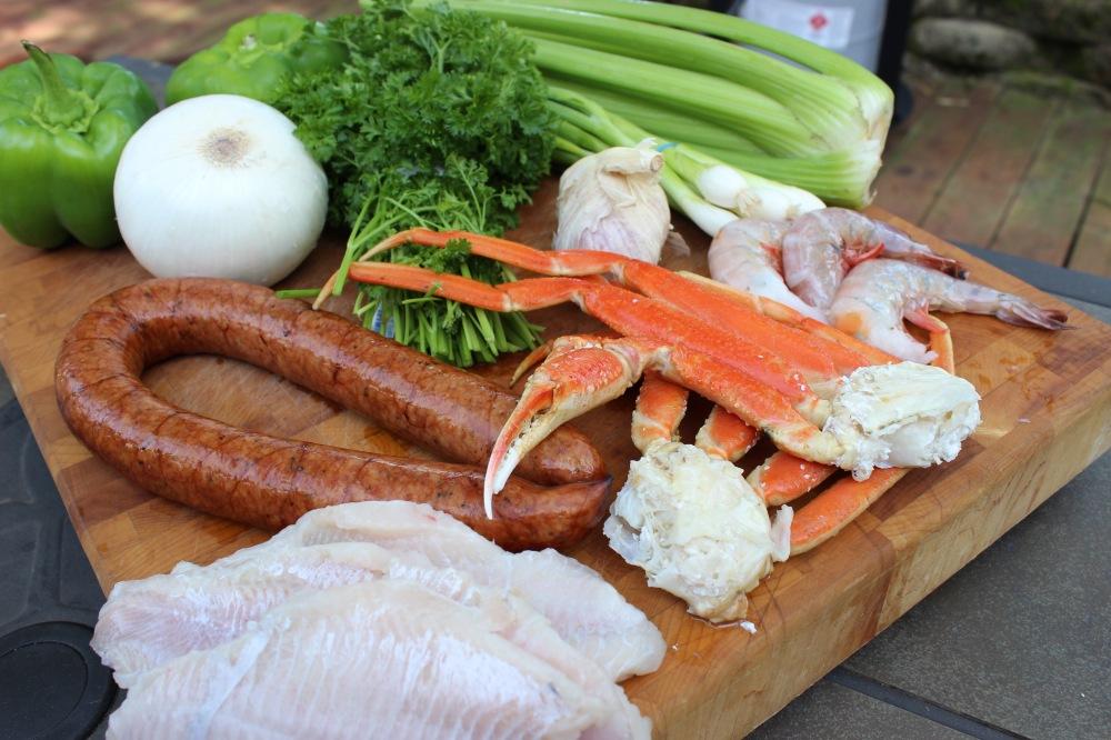 Catfish,Cajun Cooking,Catfish Court-Bouillon,Cowboy wok,Outdoors,Plow disc cooker ,Spring Recipe,Texas Wok,Twok Deep Dish,Twok Grill, Gulf Shrimp